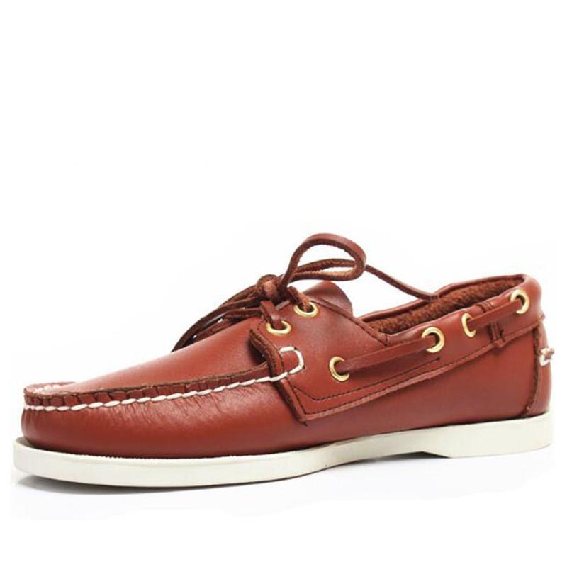 Frühling und Herbst Männer echtes Leder Fahren Schuhe Docksides Boots-Schuh-Klassiker Wohnungen Loafers 6 # 23 / 20D50