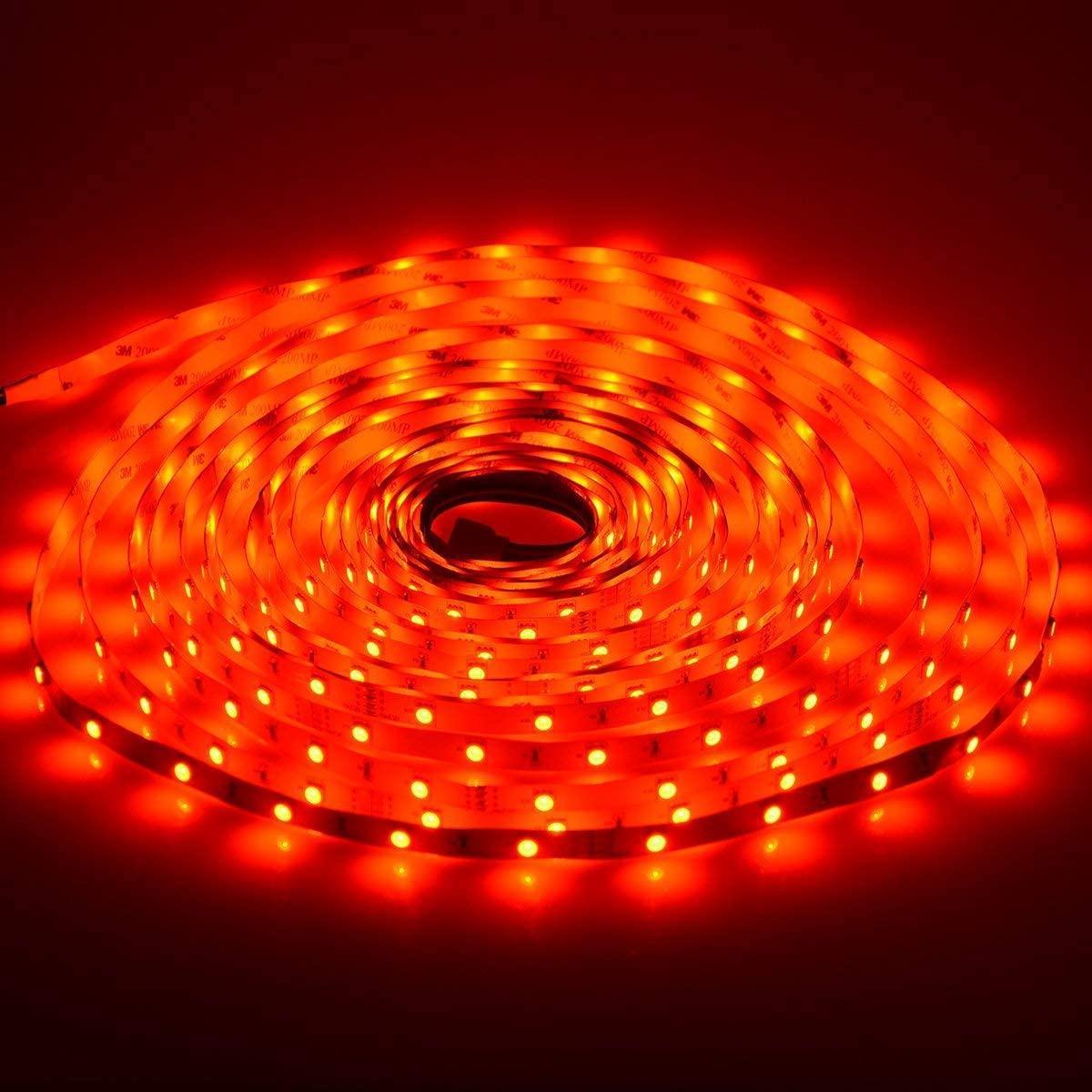 Meteor LED Şerit Işıkları RGB 16.4FT / 5 M SMD 5050 DC12V Esnek Les Şeritler Işıkları 50LED / Metre 16 Sonfferent Statik Renkler