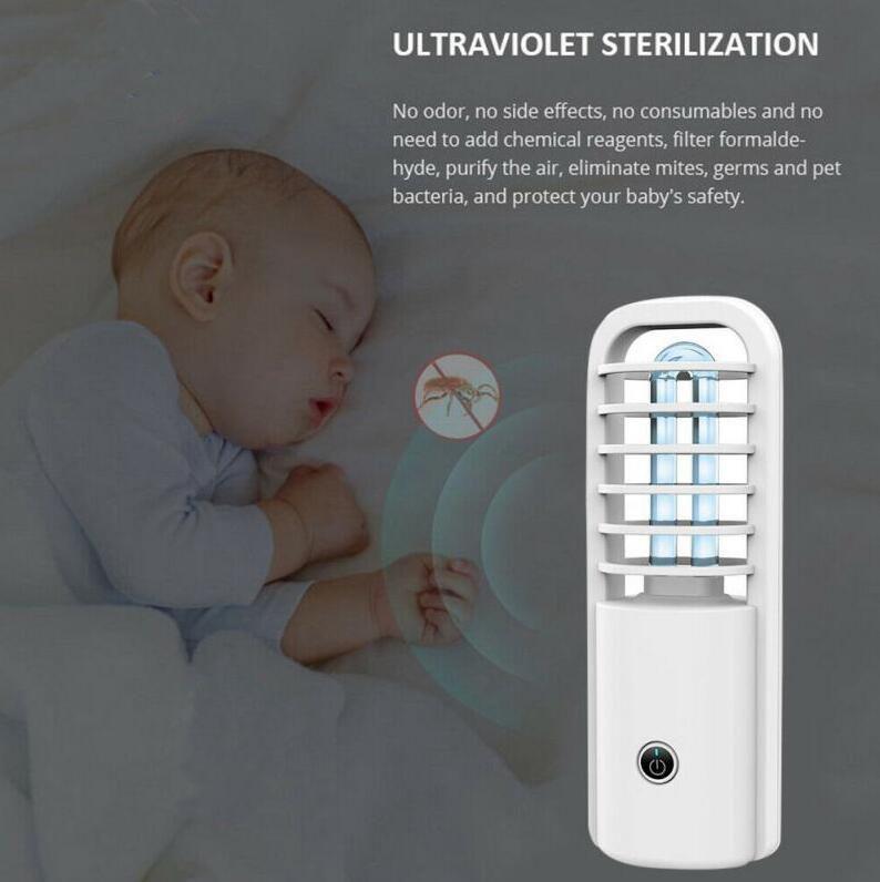 3W desinfectante portátil ultravioleta UV esterilizador de luz ultravioleta de esterilización de la lámpara desinfectar la luz de la lámpara matar los ácaros bacterianas Mite DHL