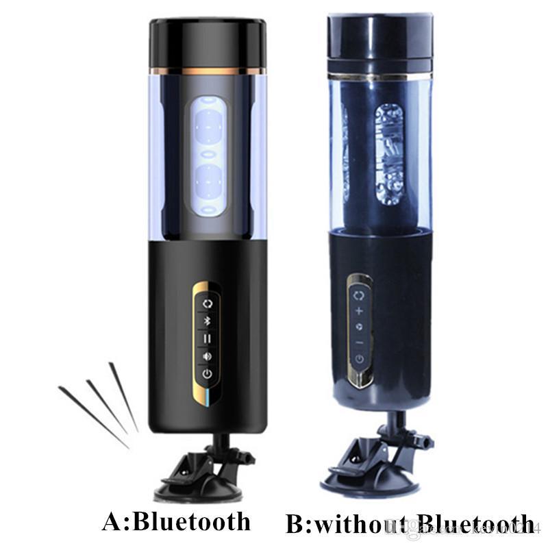 Male Masturbators Bluetooth Voice Interact Automatic Rotations Realistic Vaginas Mini Pussy Adult Sex Toys for Men B2-1-97