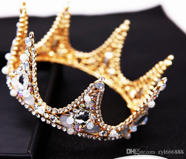 Oro barocco Crystal Crown Sposa Matrimonio Corona Opal photography diamante di accessori abito da sposa