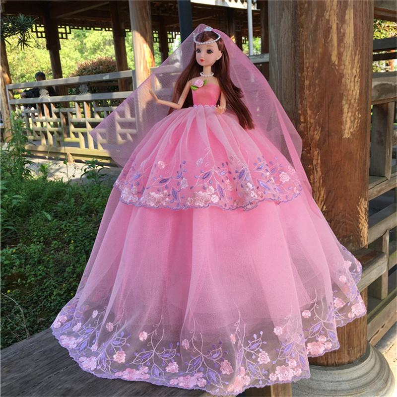 Wedding Dress Barbie Doll Originality Gift Toys Girl Princess House Toys Gift Single Doll 18 Inches Doll Dresses Doll From Kareem13 16 89 Dhgate Com