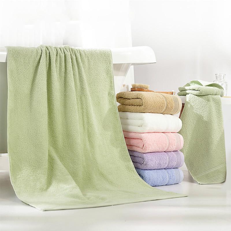 Adultos suaves toallas de baño del cuarto de baño fijados algodón toalla de baño 1 2 bebé de la toalla absorbente linda lavado coreana grueso conjunto T 6MM10