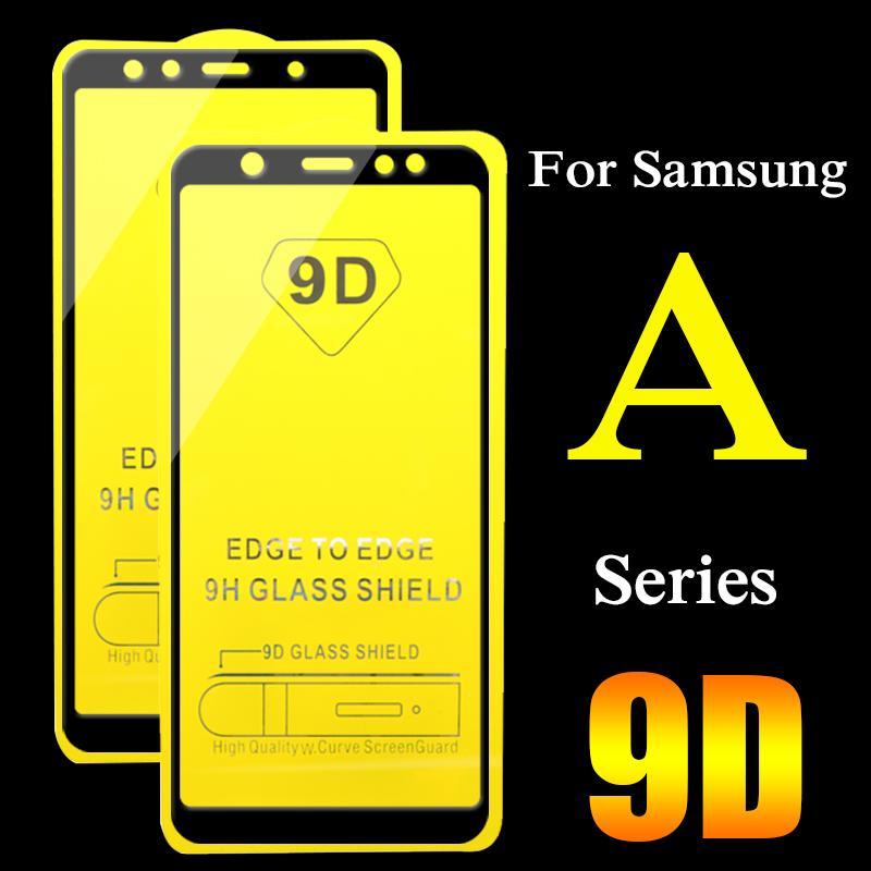 9D Koruyucu Cam İçin Samsung Galaxy A6, A7, A8 2018 Artı A3 A5 2017 Ekran Koruyucu örtüsü temperli cam