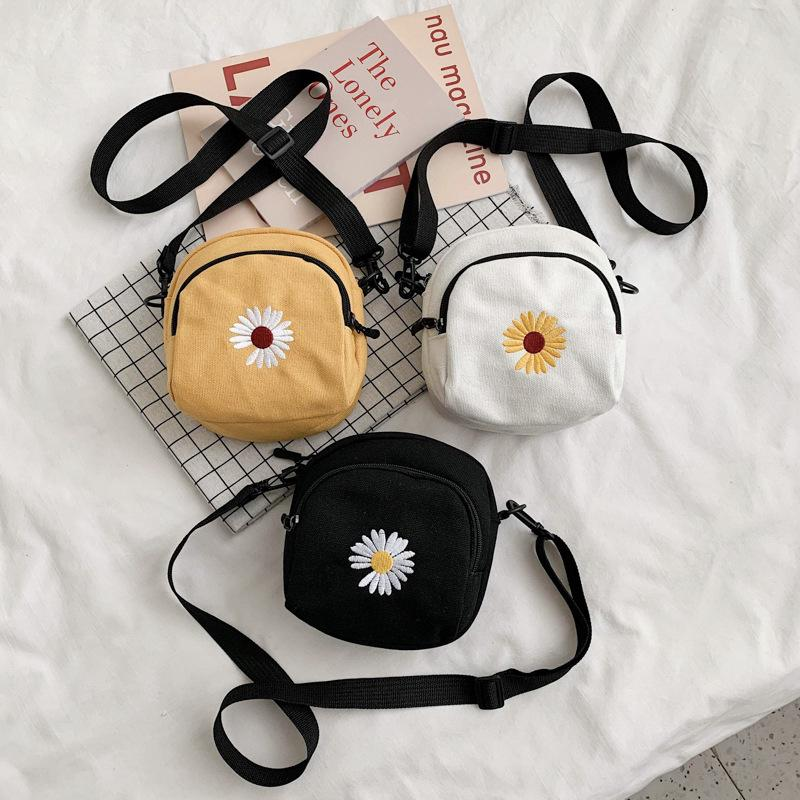 Mens Designer Bags female Daisy Canvas single shoulder student diagonal bag3YBC