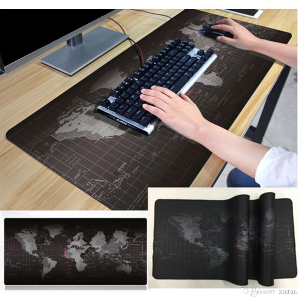 جديد الإبداعية خريطة العالم الفئران ماوس مكافحة زلة وسادة سميكة حصيرة الكمبيوتر فيديو الألعاب غطاء سطح المكتب الدرع