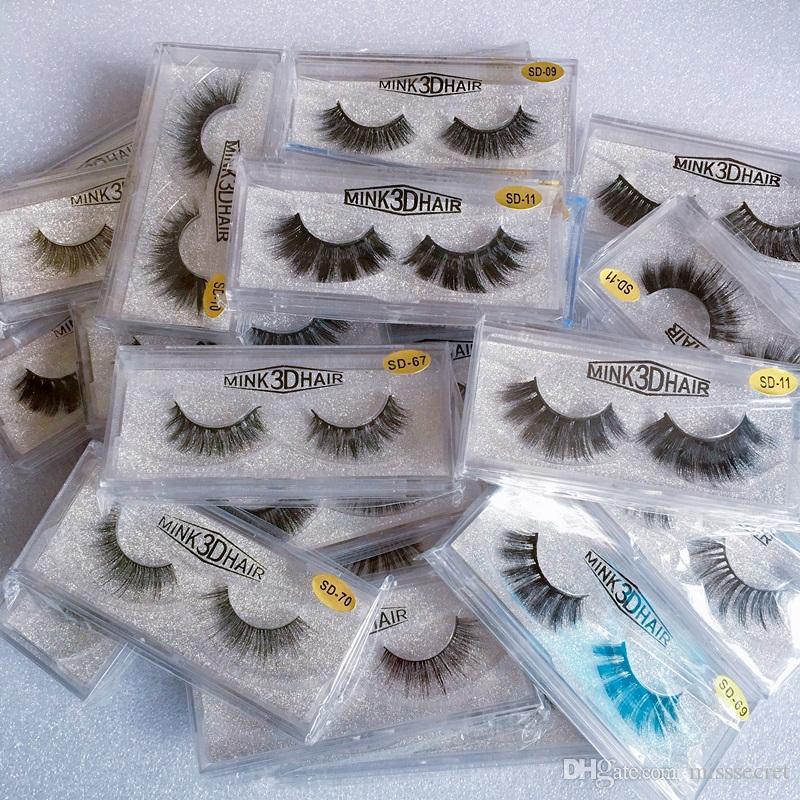 In Stock 3D Mink Eyelashes Eye makeup Mink False lashes Thick Fake Eyelashes 3D Eye Lashes Extension Beauty Tools 20 styles Mink Lashes