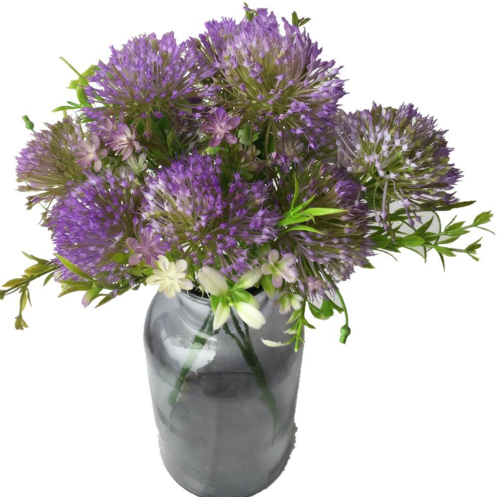 Один кусок мягкий пластик искусственный цветок одуванчика пять голов / букет искусственных цветов Букет поддельные цветы гортензии свадьба домашнего декора