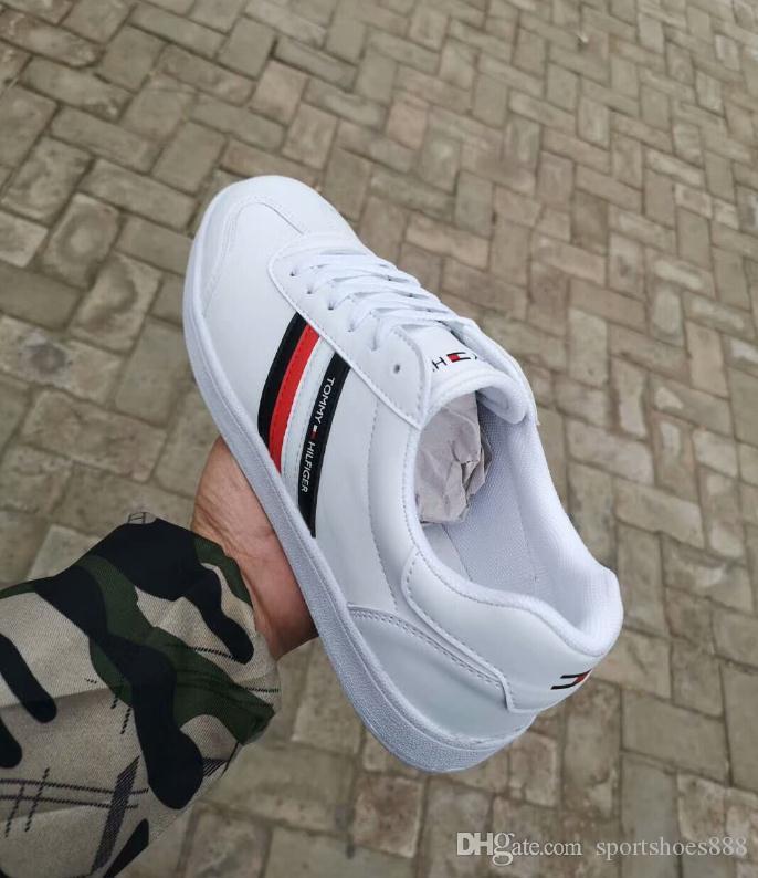 Erkekler Kadınlar Için 2019 Yeni Tasarımcı Rahat Deri Ayakkabı Düşük Kesim beyaz Rahat Kaykay Spor Ayakkabı Marka Unisex Zapatillas Sneakers 36-44