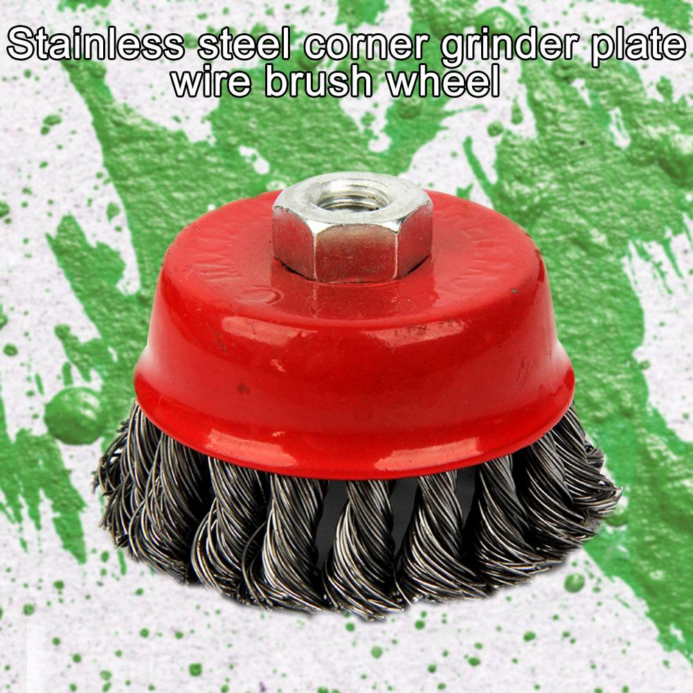 Flat Cup Rust Clean Quick Rotary Angle Grinder Brush Twist Knot Steel Wire Wheel