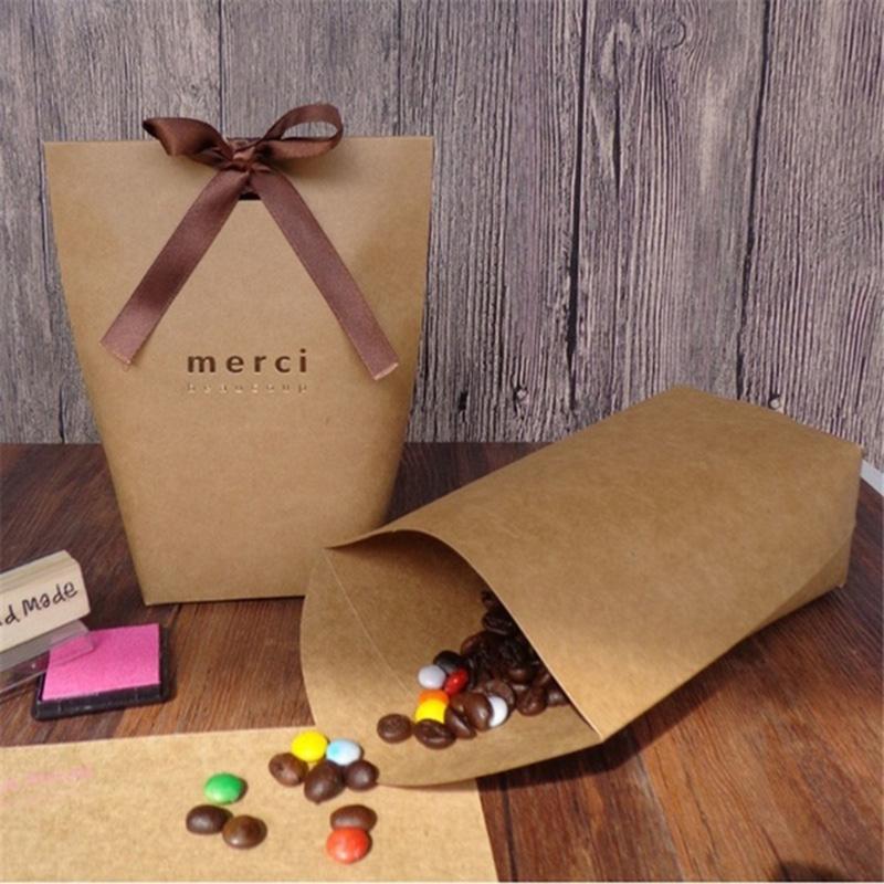 Depolama Kağıt Şeker Kutusu Dayanıklı Hediye Paketleme Çanta Şeker Çanta 5 Adet / 10pcs doğum günü partisi