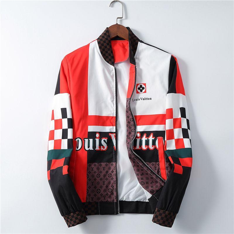 2020 Mens progettista Giacca con cappuccio marca Giacca a vento per gli uomini di marca donne della chiusura lampo Logo Coat Slim Jacket