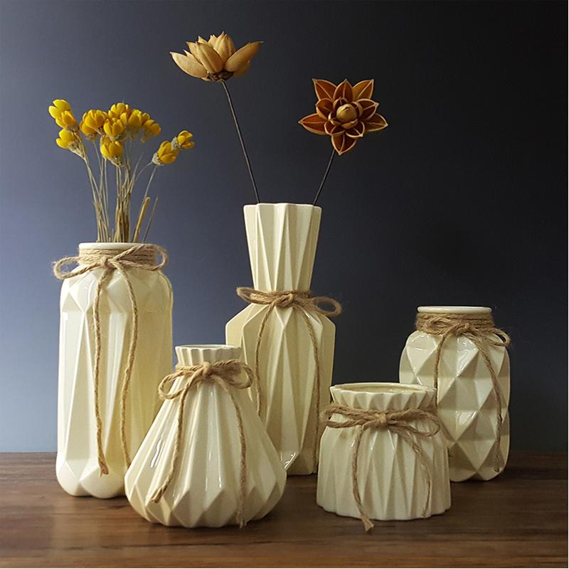 Fashion origami Vases Ceramic Tabletop Vase Home Decoration vase european style dried Flower Household wedding Decoration