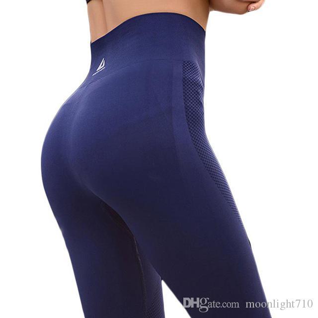 EU Womens Yoga Pants High Elasticity High Waist Yoga Leggings for Women Hip Up Fitness Sport Leggings Women Gym Running Tights