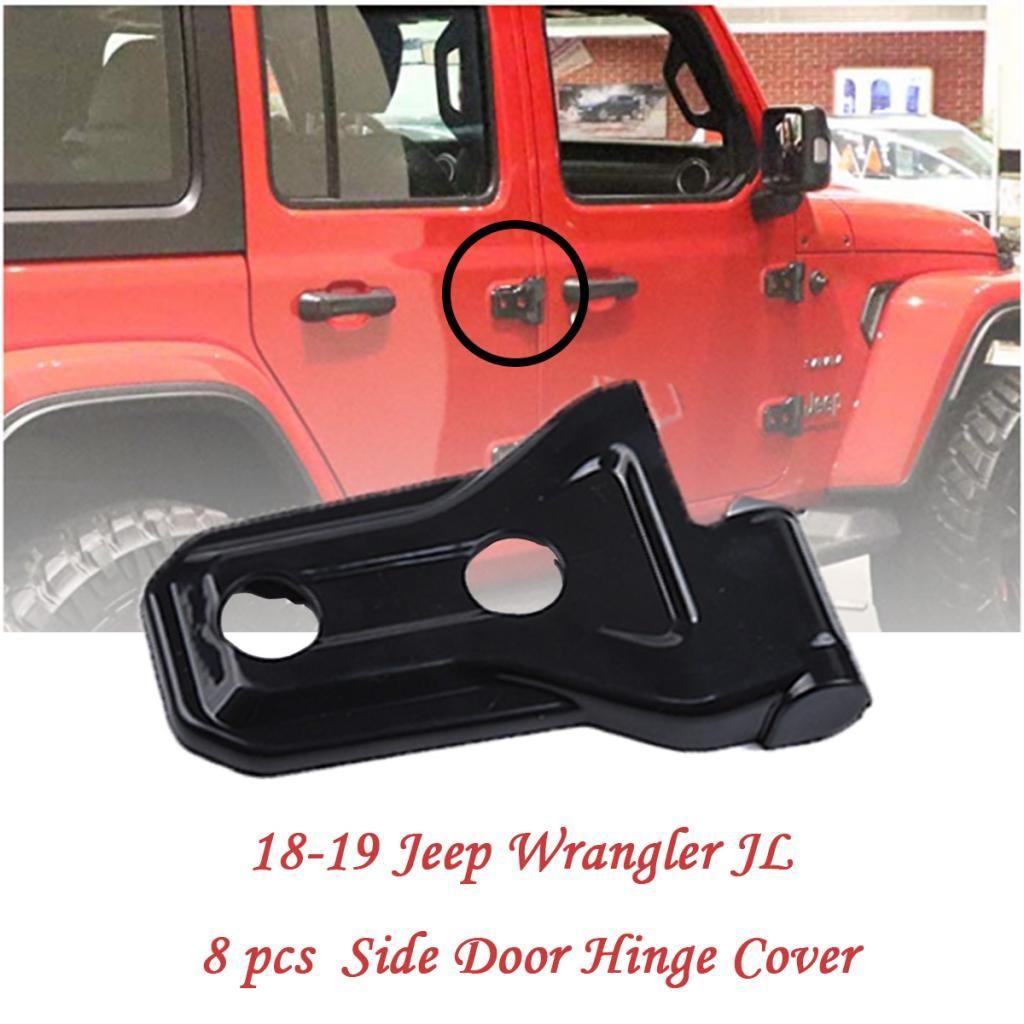 Puerta de la cubierta para el coche bisagra de la puerta exterior decorativo cubierta para el Jeep Wrangler Jl