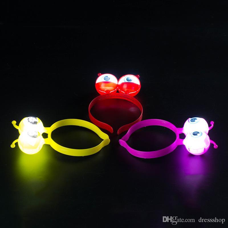Shop Neu Spielzeug bei Night Market, Flash-Kunststoff-Stirnband, Blumen-Ring-LED-Lampe, Licht emittierende Spielzeug Stirnband und Haar-Band