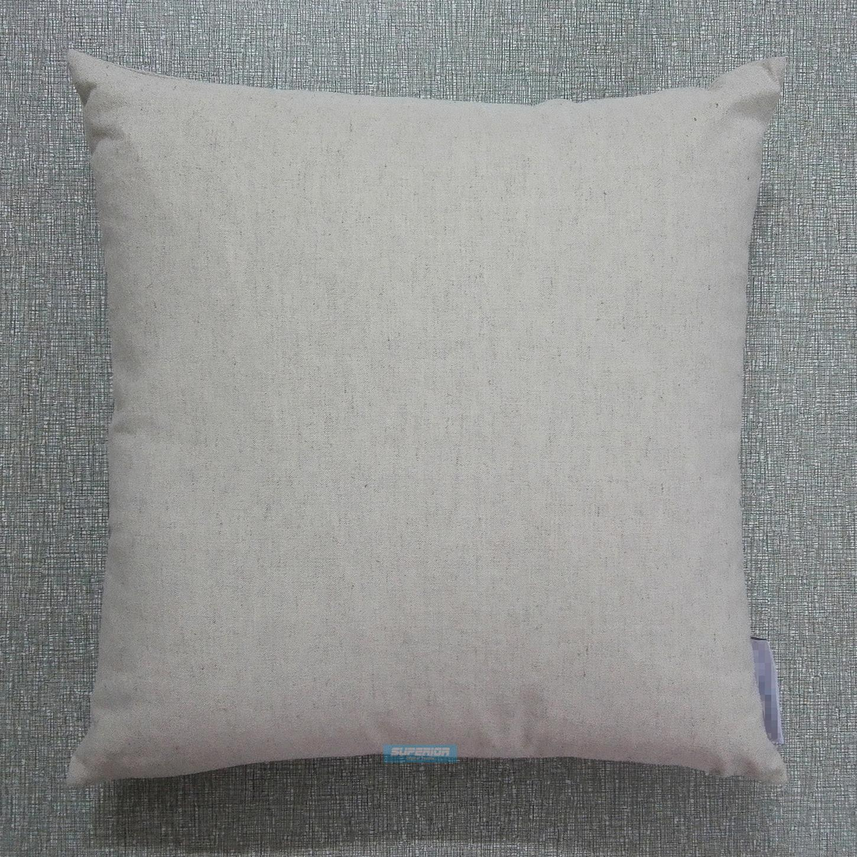 30 pezzi 18x18 pollici Plain tela naturale-mescolato cotone Cuscino Bianco Grigio Chiaro Colore Lino / misto cotone copertura del cuscino per Stenciling