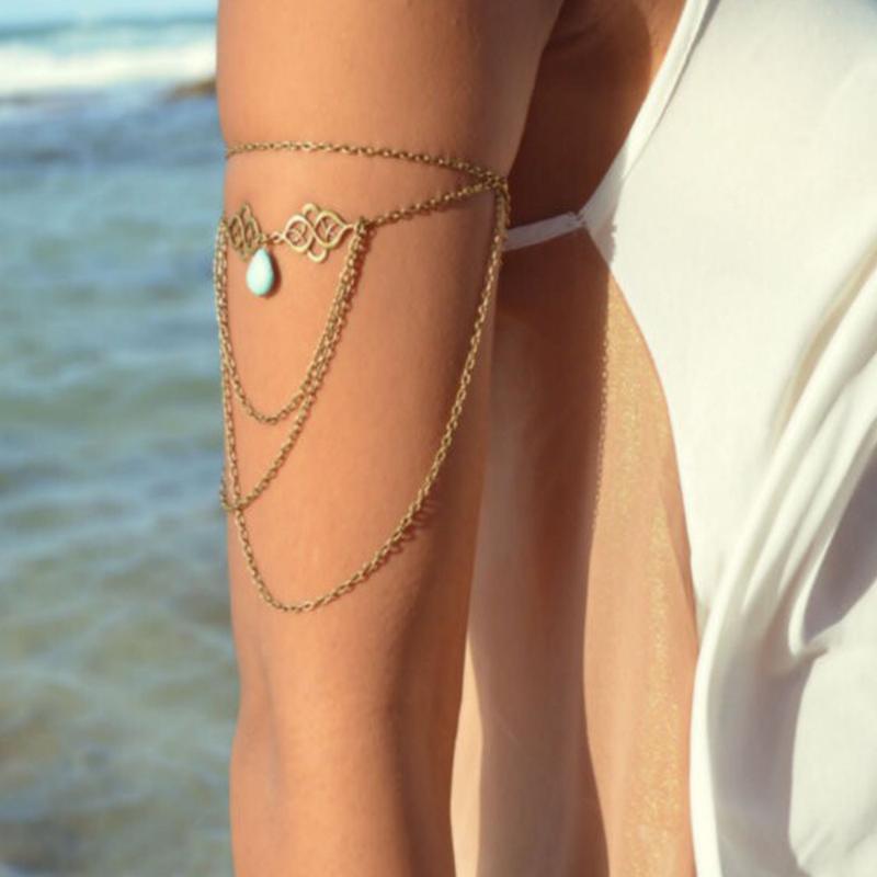 stile della catena braccio ornamento, cava fuori il pendente di buon auspicio, goccia d'acqua, pietra sciolta, nappa, catena braccio, bracciale, mano ornamento