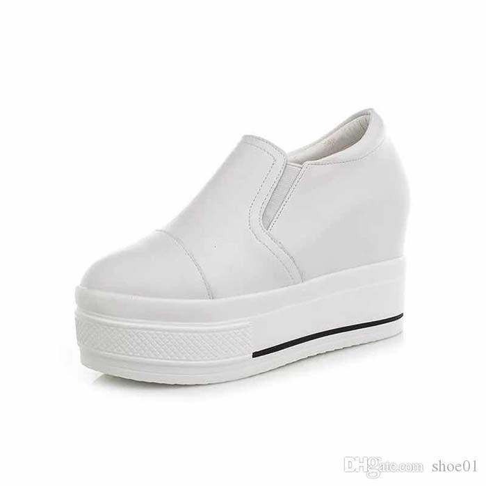 Mit Box Sneaker Freizeitschuhe Sneaker Fashion Sportschuhe der Qualitäts-Lederstiefel Pantoffel-Weinlese-Air für Frau PX41