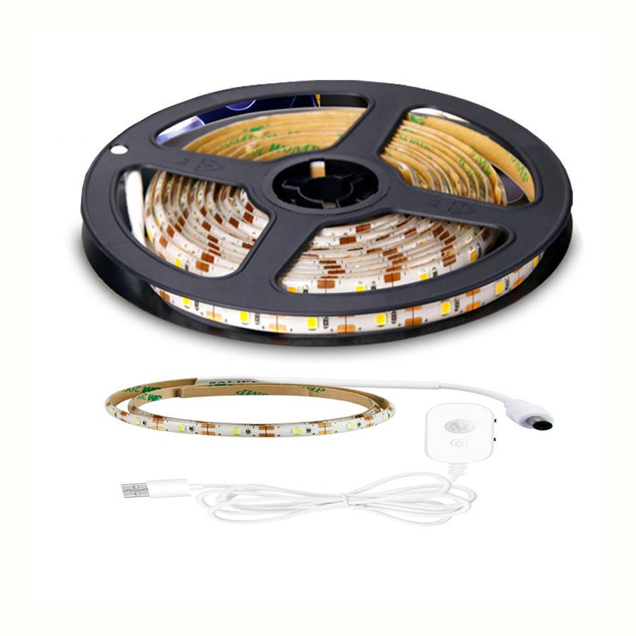 DC 5V USB Sensor LED Strip 60leds per meter Light Strips Waterproof Adhesive Tape 0.5M 1M 2M 3M 4M 5M
