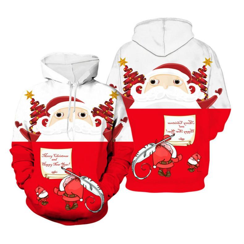 Sportswear Uomo Felpa Natale a colori Felpa con cappuccio Collegio di stile di tendenza di modo esterna Shiping 2019 vestiti dei nuovi cartoni animati