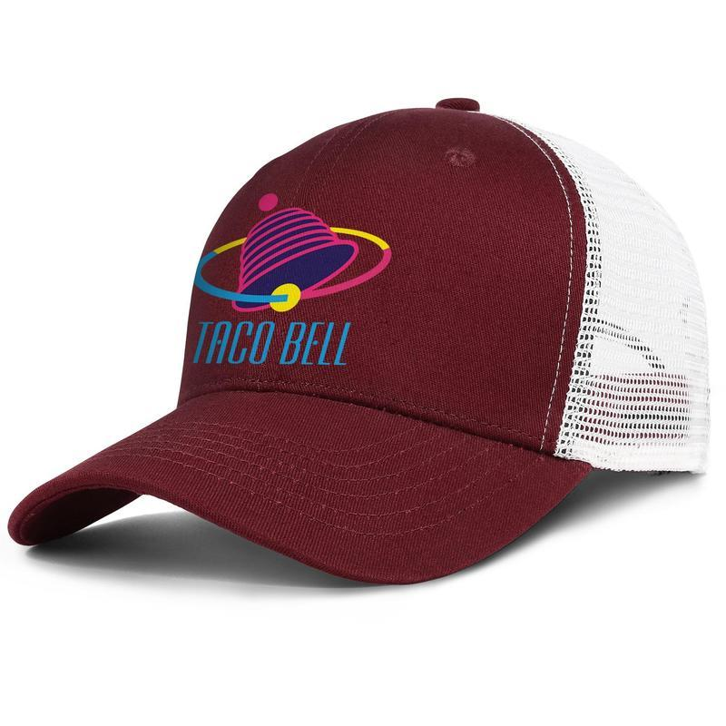 Unisex TACO BELL Einstellbare Trucker Mütze Ball Designer nette Weinlese-Baseball-Mütze Taco Bell Tarnung Fastfood 24 Stunden