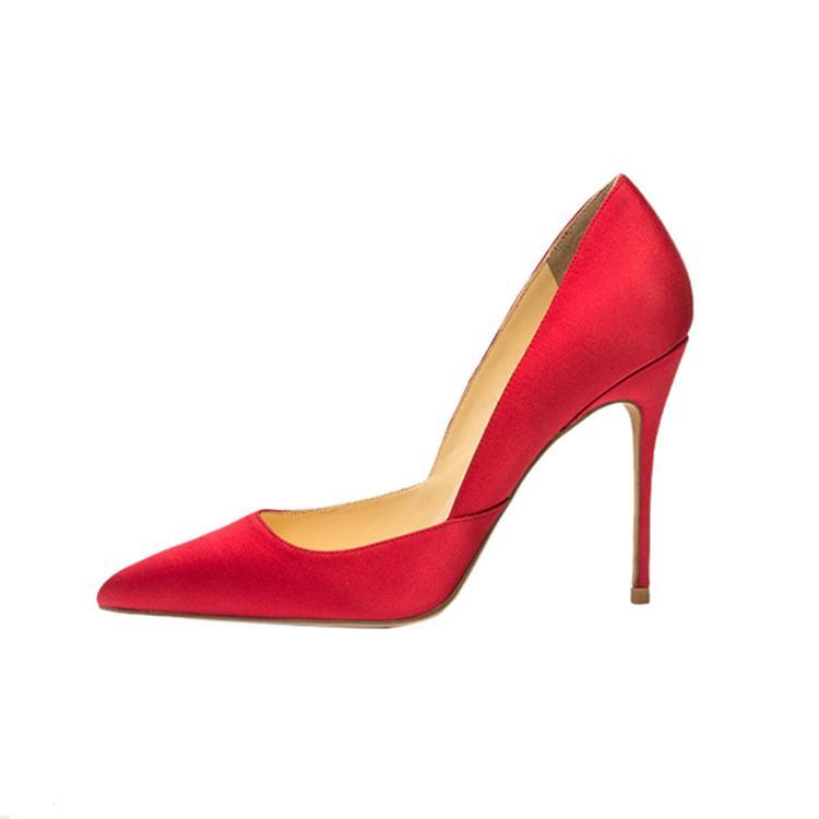 Güzel Keskin Sığ Ton Ile Goddess2019 Kadın Son Moda Tek Ayakkabı Muhtasar 45