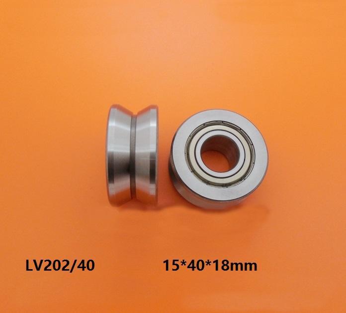 20 adet / grup LV202 / 40 15x40x18mm V oluk makaralı rulman rulman tekerlek kasnak rulman kılavuzu parça 15 * 40 * 18mm