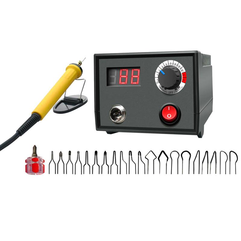 SHGO HOT-30W température réglable poêle à bois pyrogravure Pen Brûler machine Gourd artisanat Jeu d'outils avec fil de soudure 220 V, UE P