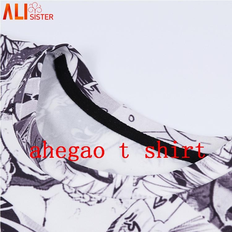 Alisister Print T Shirt Men Women Harajuku Face Red Woman T Shirts Funny Shy Girl Sexy Tops Summer Cute Clothing Dropship