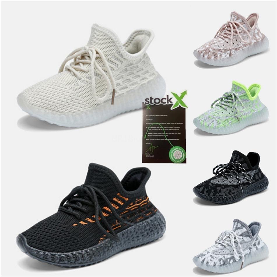 Малыш Клей кроссовки Big Kids Infant Kanye West Black Static 3M Reflective Zebra Beluga 2,0 Мальчики Детские спортивные тапки # 273