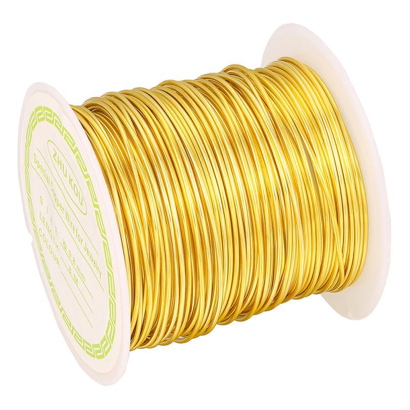 Or argent Fil de cuivre Bijou Faire de bricolage Accessoires perlage Emballage fil fil Tarnish résistant