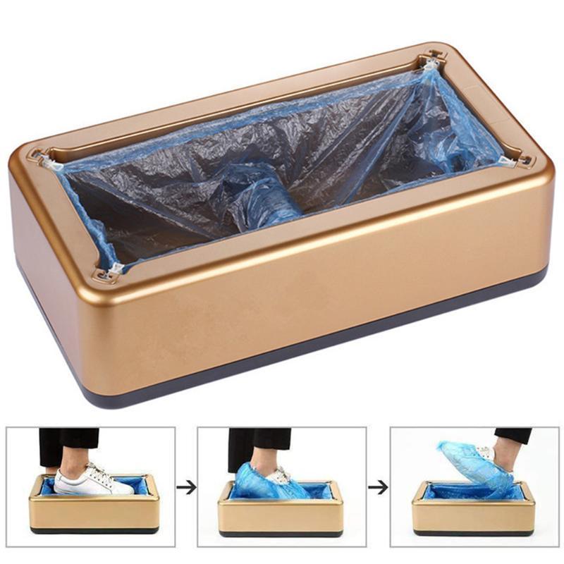Couverture automatique Chaussure Distributeur Anti Slip Hygiène Laboratoire mécanique Bottes de sécurité à usage unique machine Caoutchoucs Home Office
