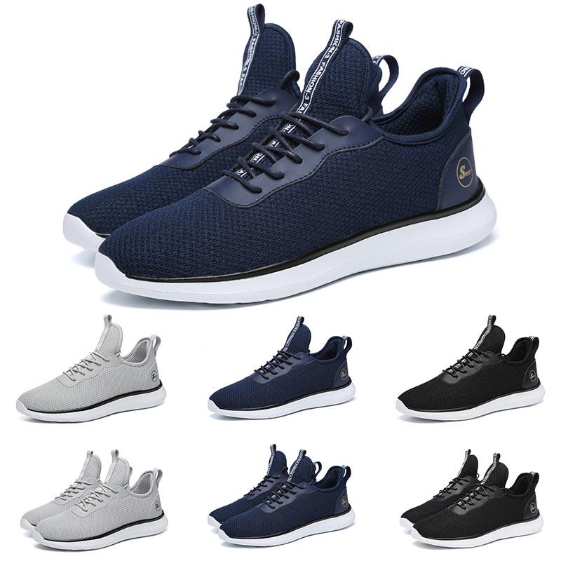 2020 respirável Mens Womens Running Shoes Formadores Designer Cinza Preto Azul Jogging Mens Fashion Marca Sneakers Mens Athletic sapatos ao ar livre