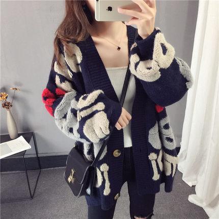 2018 Frau Strickjacke Weibliche Robe Streetwear Flauschigen Pullover Winter Tops Für Frauen Korean Cashmere Frauen Kawaii