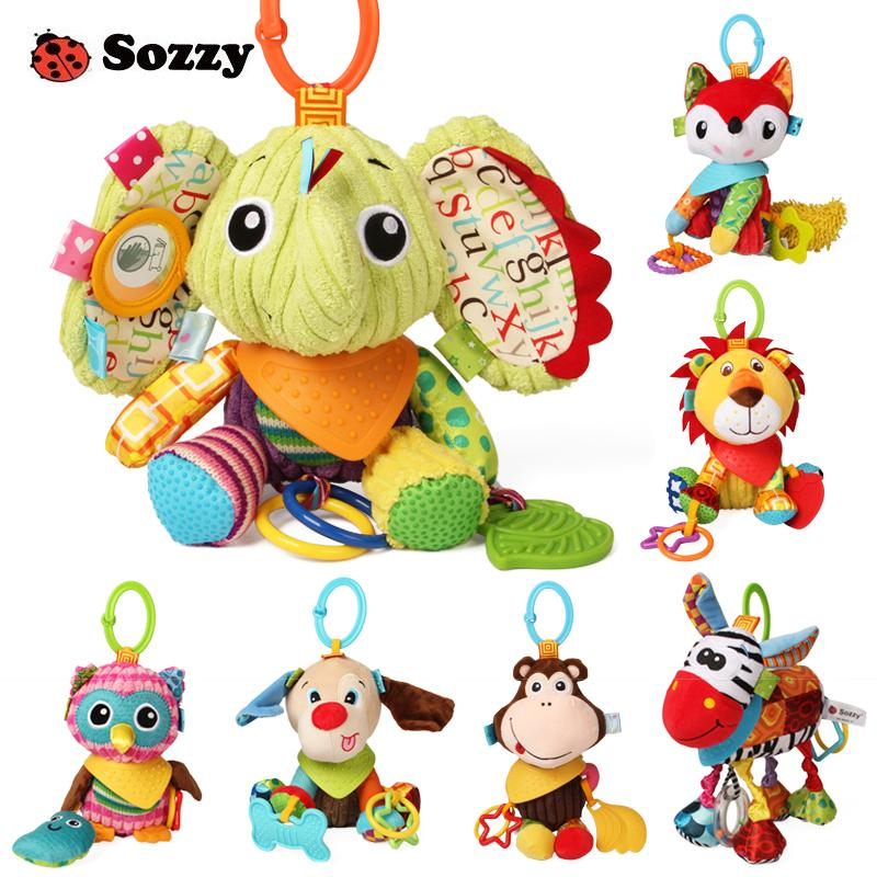 Sozzy Lovely Plush Stuffed Animals Textured Soft Bed Crib Stroller Hanging Decor Activity Game Fun Baby Toys for Children Mobile CJ191216