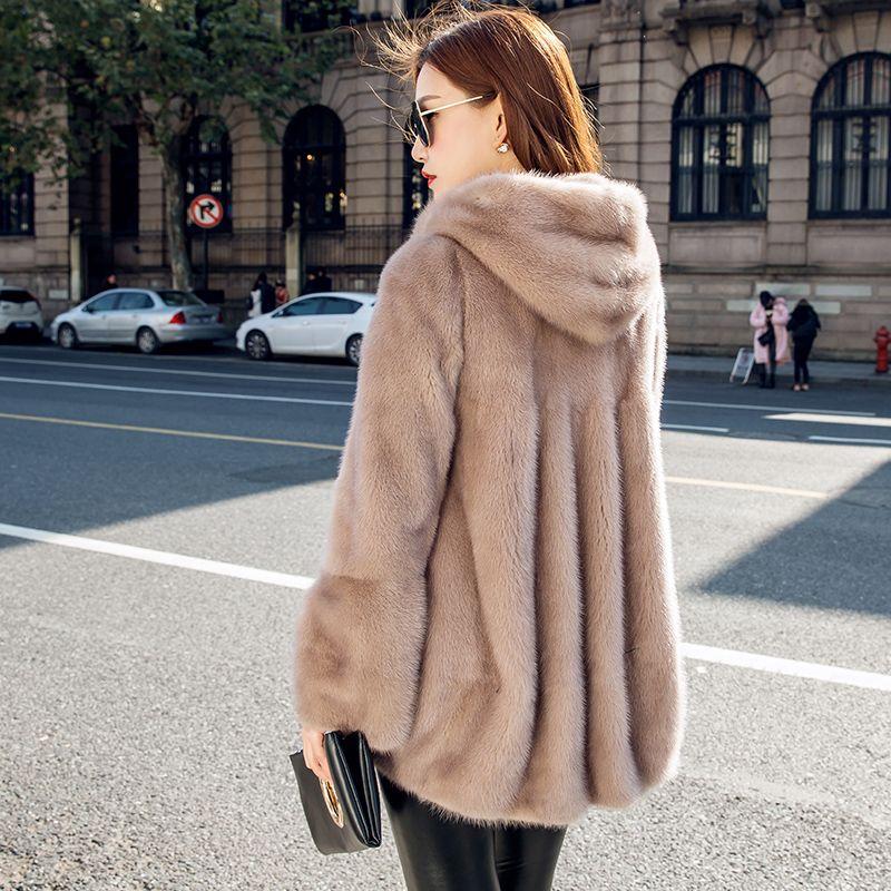 2020 inverno donna vestiti rivestimento rivestimento coreano con cappuccio parka vera pelliccia Abrigo Mujer Z16D428 YY2227