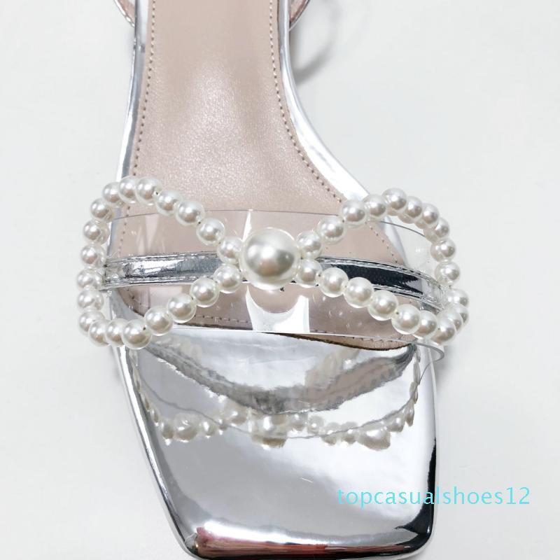 100% d'origine Sandales pour femmes en cuir talons carrés sandales femme Chaussures d'été Casual Le mariage de plage Chaussures T12