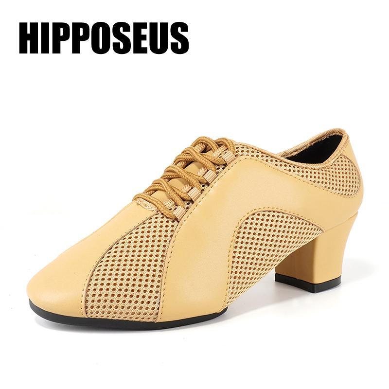 Hipposeus 5CM Каблуки Танцевальная обувь Летняя бальных латиноамериканских танцев обувь для женщин Ladies Девушки Джаз Танго Танцы Чистка сальса Оптовая