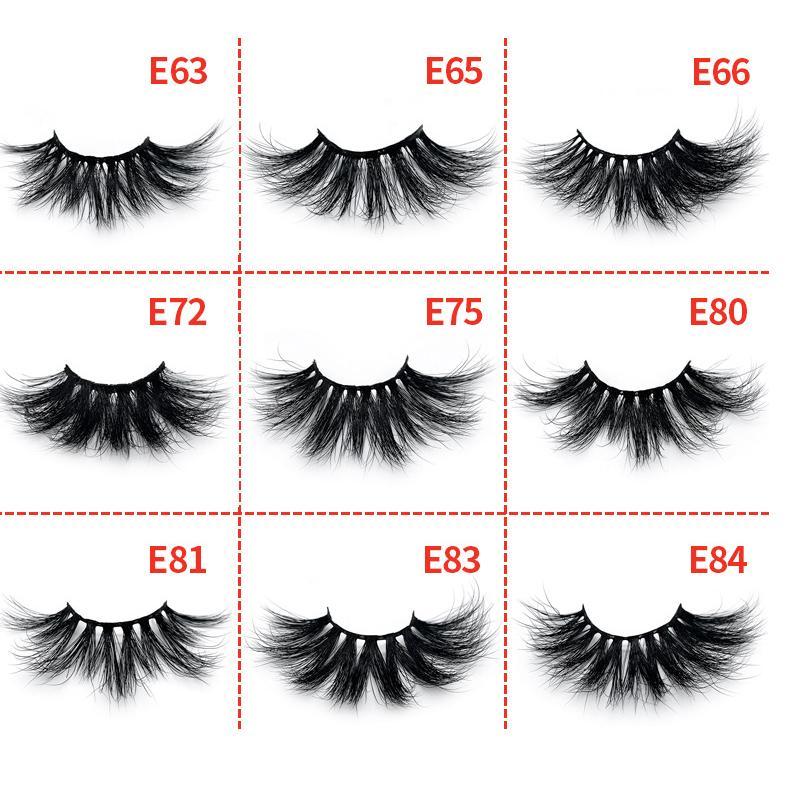 25mm 100% Real Mink Eyelashes 5D Natural Soft False Eyelash Hand Made Mink  Lashes Long Thick Eyelash Extension Eye ...