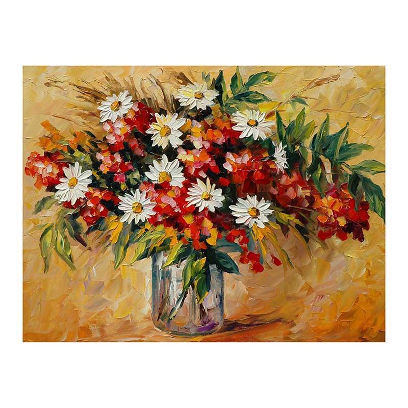 48x72 margarida lilás Europeu óleo espesso faca pintada flor ainda vida pintados à mão pintura a óleo quarto restaurante varanda decorativo pintado