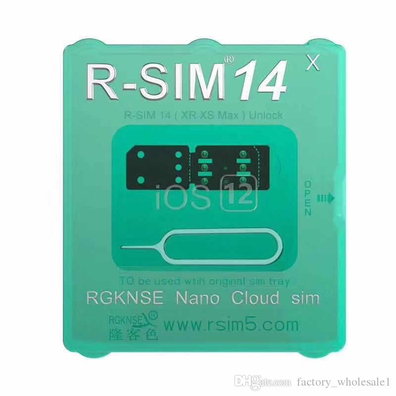 2019 newest unlock iccid card rsim14 for iphone8 7 6 iphone xs max xr x iOS 12.x-7.x 4G unlock r-sim 14