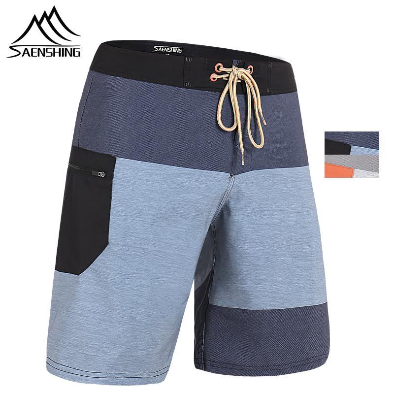 SAENSHING 2019 New Beach Board Shorts Homens de alta qualidade Surfing Swim Shorts respirável Esporte Curto Masculino Maillot de bain Plus Size