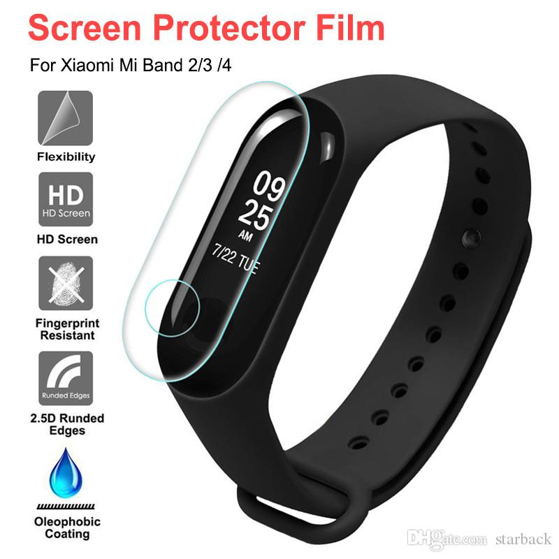 For xiaomi Smart watch band 234 Soft TPU screen protector For MI Band M2 M3 M4 In retail package 5pcs/pack