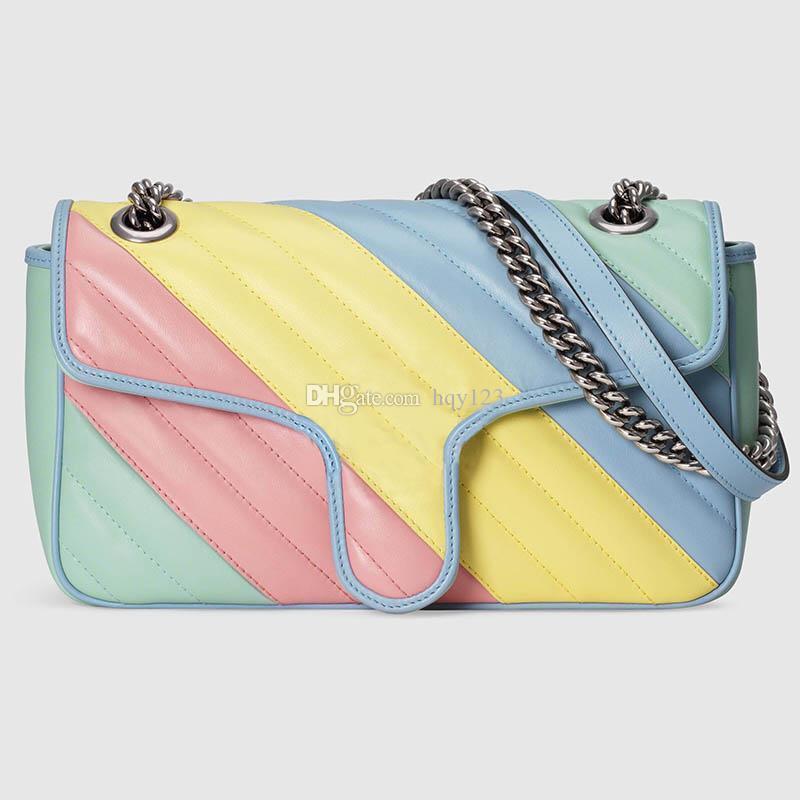 جديد وصول أزياء فاخرة قوس قزح أكياس الألوان مصمم امرأة MARMONT حقائب الكتف الفاخرة حجم 10x6x3 في نموذج 443497