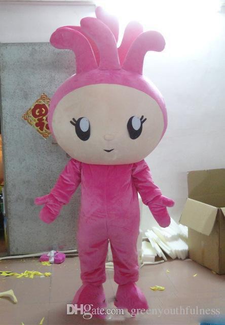 2018 vente chaude personnalisable elfe rose dessin animé mascotte vêtements femme elfe mascotte costume de dessin animé