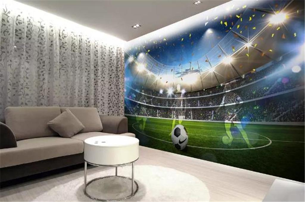 Compre Custom Photo 3d Wallpaper Hd Gran Campo De Fútbol 3d Tv Fondo Decoración De Pared Mural Wallpaper A 2413 Del Yunlin189 Dhgatecom