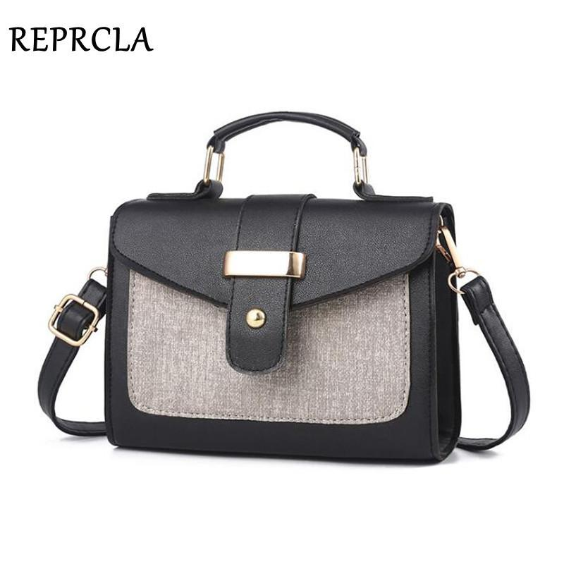 Reprcla 2019 moda borsa a tracolla borsa in pelle piccola patta donne borse a tracolla di alta qualità pu crossbody borse signore borsa SH190710