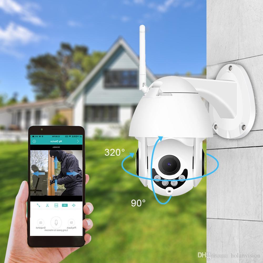 Holanvision ICSEE Wi-Fi Камера H.265X HD1080P Мини-кастрюля / наклон IP-беспроводной PTZ 3.6 мм Ночноевиз объектива Auto Tracking Home Security