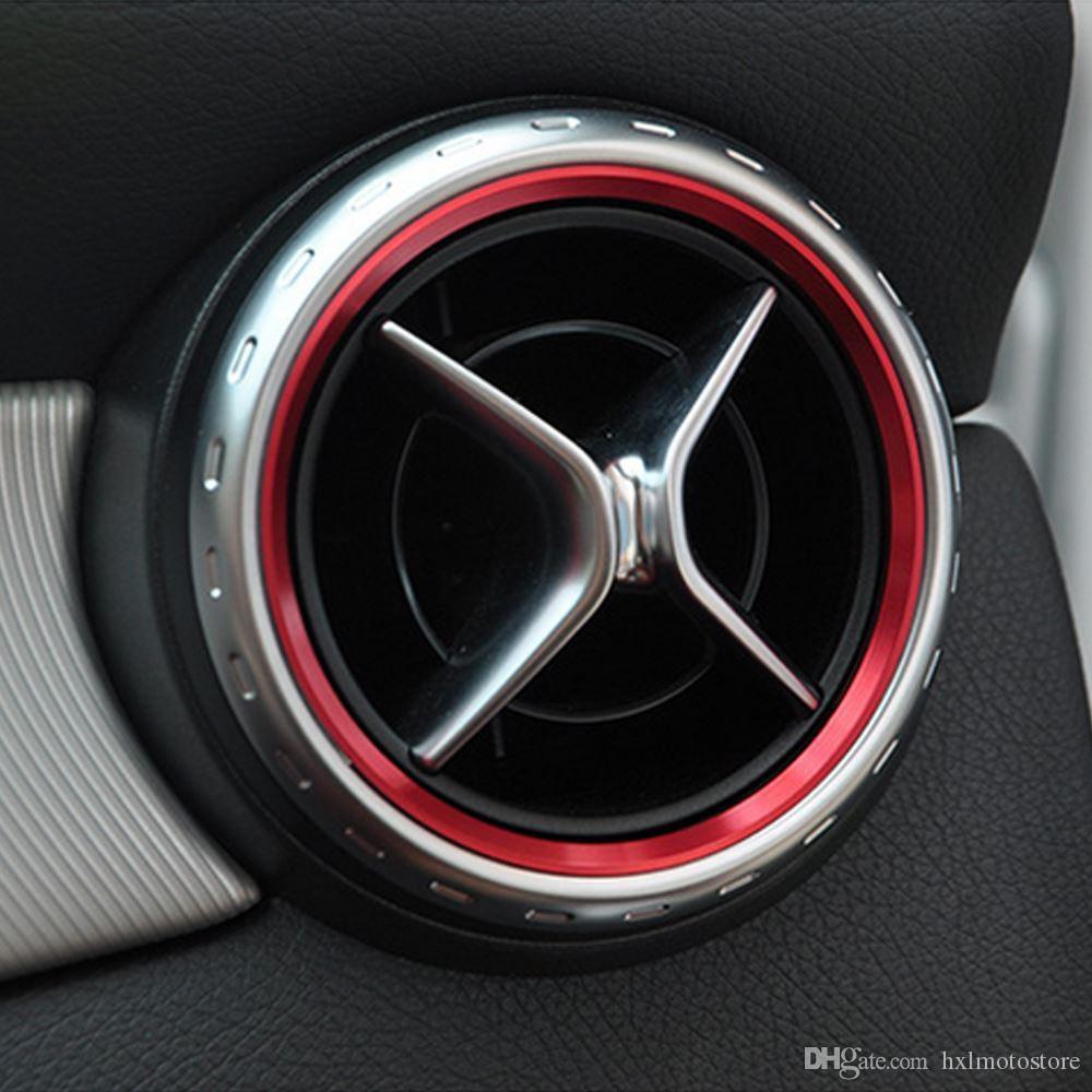 styling auto, Aria condizionata Air Vent uscita copertina anello decorativo Trim per Mercedes Benz A B Classe CLA GLA180 200 220 260 AMG Accessori